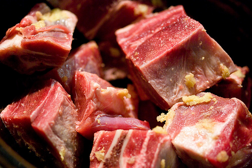 how to cut goat meat